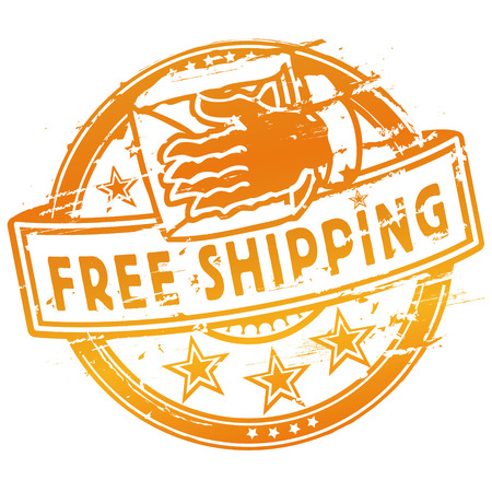 Rubber stamp free shipping Vector