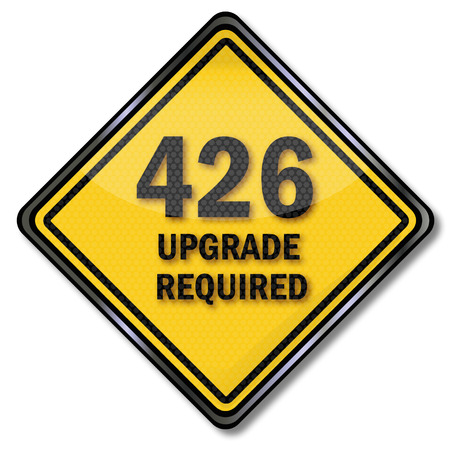 required: Computer sign upgrade required Illustration