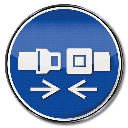 prevencion de accidentes: Sistema de uso de signos de retenci�n obligatoria y por favor abrochen