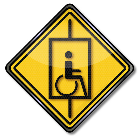 Sign lift for wheelchair users