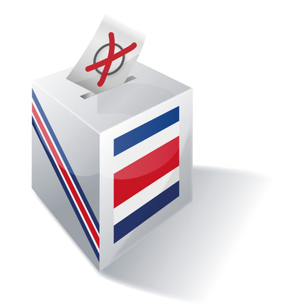 voters: Ballot box Costa Rica  Illustration
