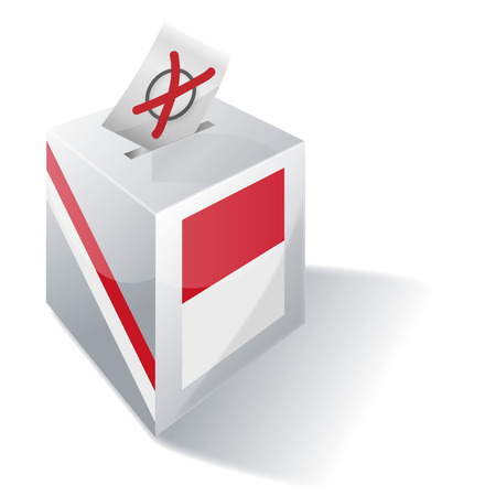 liberal: Ballot box Indonesia  Illustration
