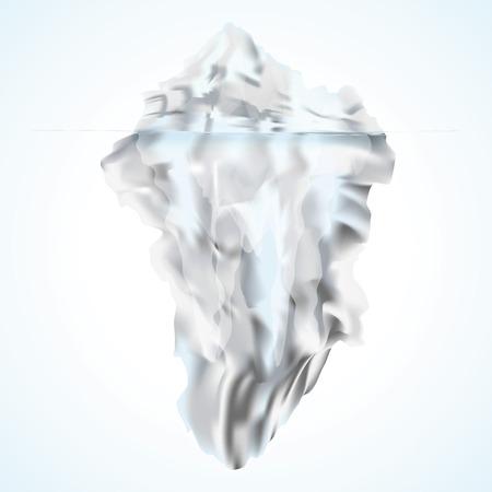melting point: White iceberg Illustration