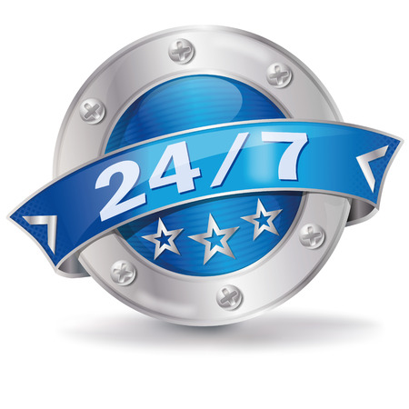 Button 24 7  Illustration