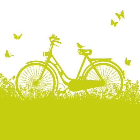 Bicycle in the grass Reklamní fotografie - 27484571