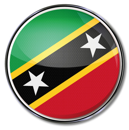 Button St Kitts and Nevis Vector