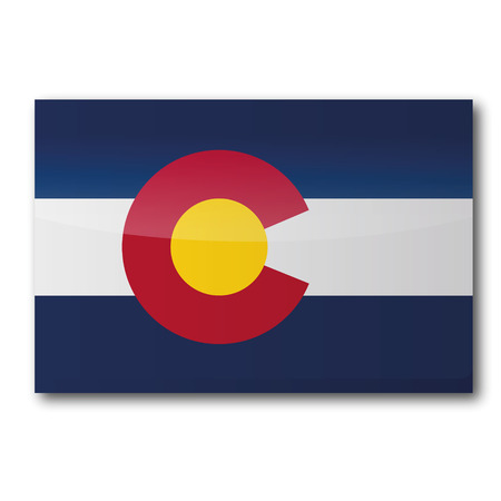 colorado mountains: Flag Colorado