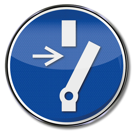 Mandatory sign unlock before maintenance or repair  Stock Vector - 27484593