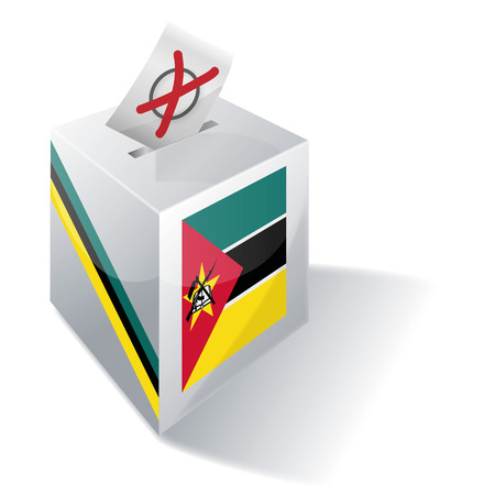 Ballot box Mozambique Vector