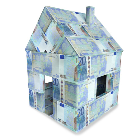 House made of 20 euro notes photo