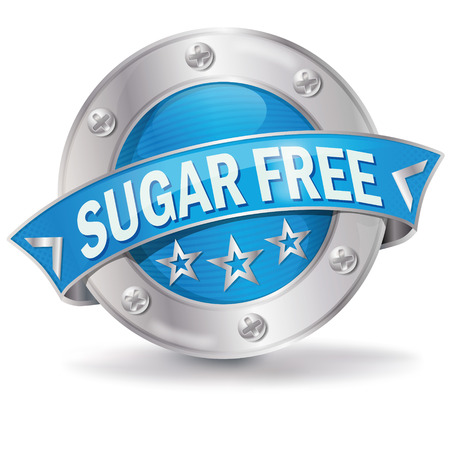 Button sugar free  Vector