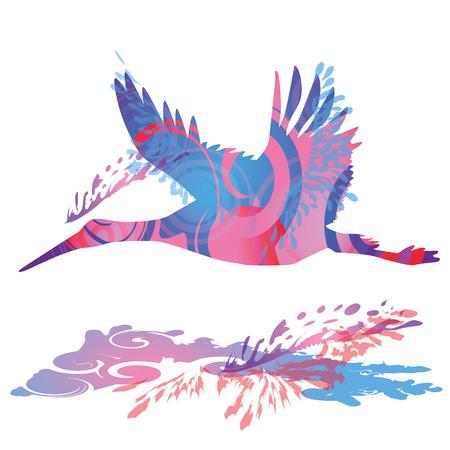 restlessness: Flying stork