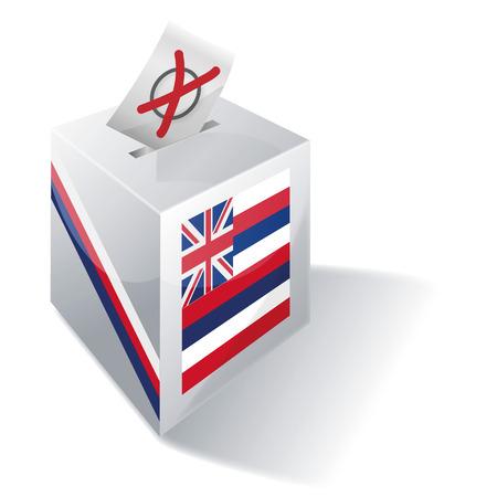 absentee voting: Ballot box Hawaii