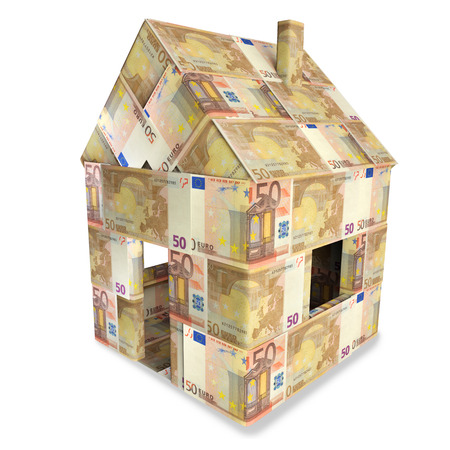 House from 50 euro notes  photo