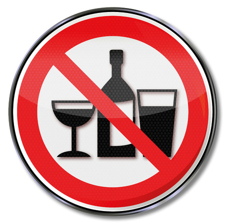Prohibition sign no drinking in these rooms  Vector