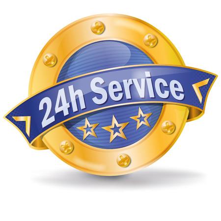 twenty four hours: Button 24 hour service