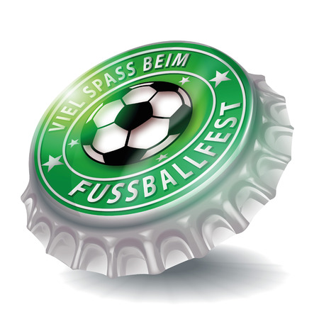 Bottle cap with soccer festival  Vector