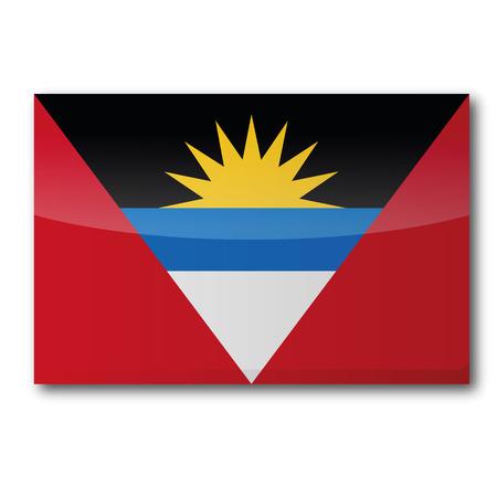 antigua flag: Flag Antigua and Barbuda Illustration