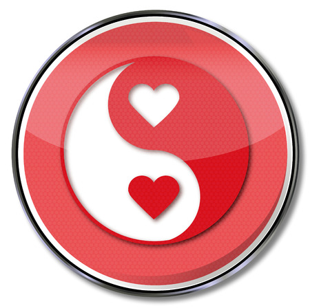 gentleness: Sign yin and yang of love Illustration