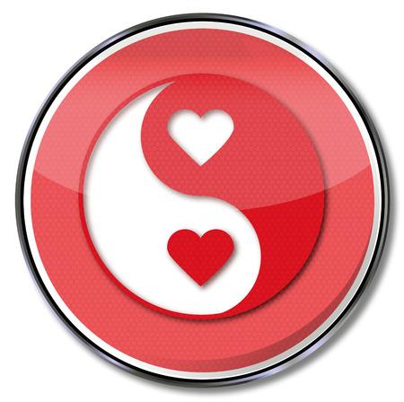Sign yin and yang of love Illusztráció