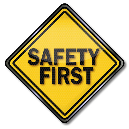 Sign safety first  Vector