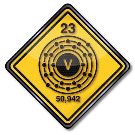 enlaces quimicos: Vanadio escudo Qu�mica