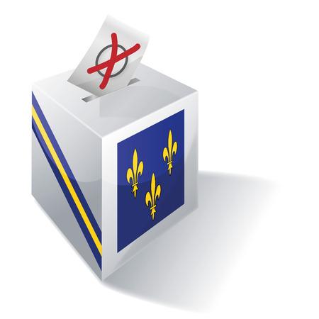 absentee: Ballot box Ile-de-France