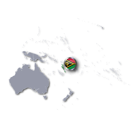 vanuatu: Pacific map with Vanuatu Stock Photo