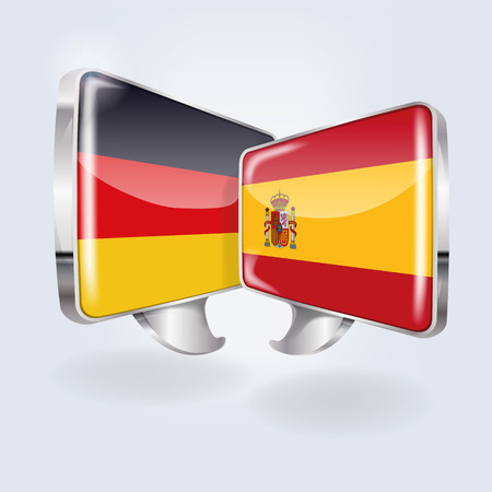 translate: german and spanish flags Illustration