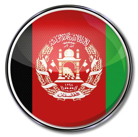afghanistan: Button of Afghanistan Illustration