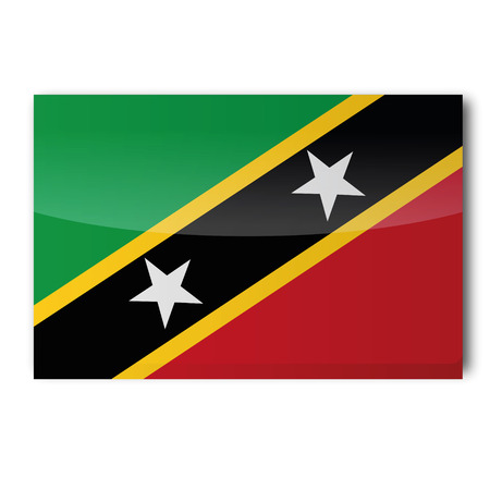 Flag St Kitts and Nevis Vector