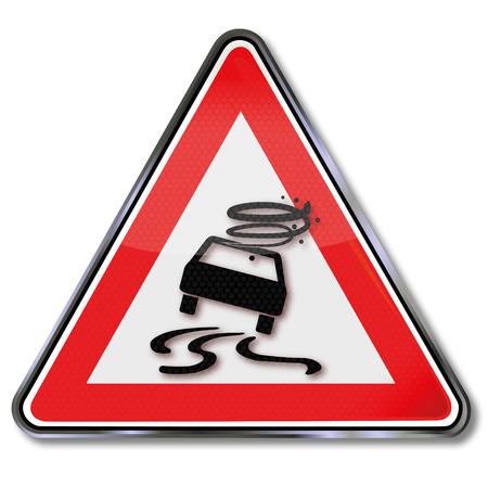 autoscuola: Traffico segno bere e guidare e ghiaia Vettoriali