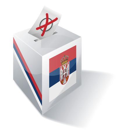 landlocked country: Urna Serbia Vectores