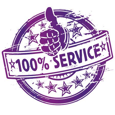 Rubber stamp stamp 100  service