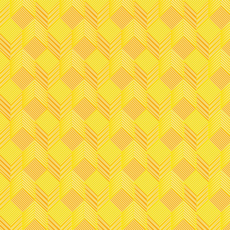 Yellow cubes on fabric pattern Stock Vector - 28651034