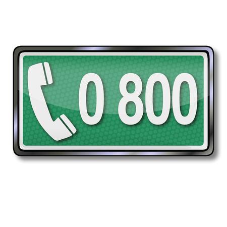 Telephone number 0800