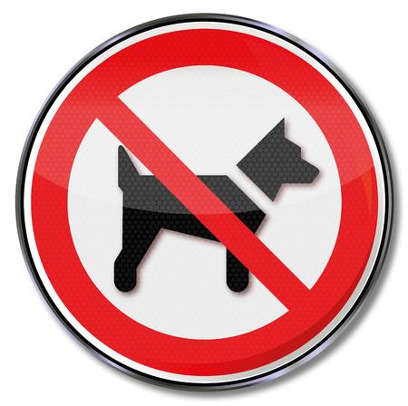 interdiction: chiens de signe d'interdiction sont interdites Illustration