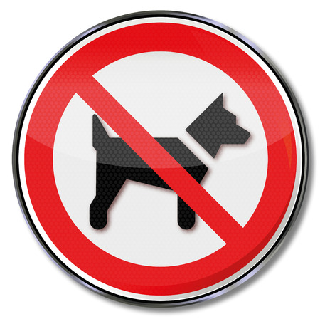 Prohibition sign dogs are prohibited