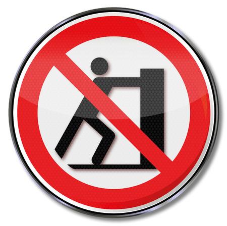 wobbly: Prohibition sign slide prohibited  Illustration
