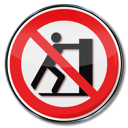 Prohibition sign slide prohibited  Illustration
