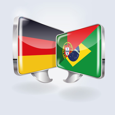 Bubbles and speech in German, Portuguese and Brazilian