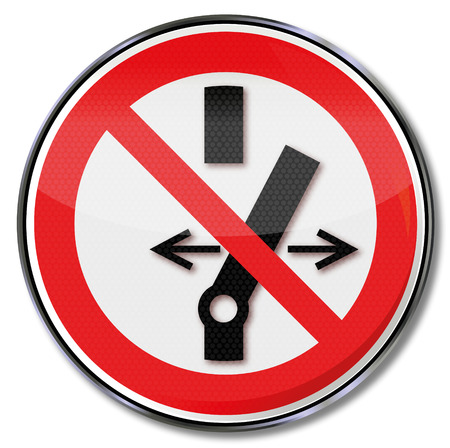 workplace safety: Prohibition sign no switching