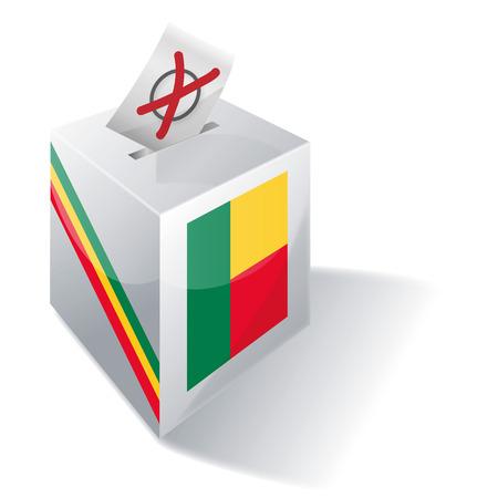 absentee: Ballot box Benin