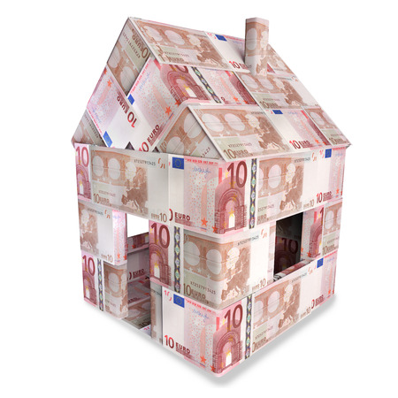 billets euro: Maison de 10 billets en euros
