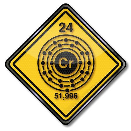 enlaces quimicos: Reg�strate car�cter qu�mica con cromo Vectores