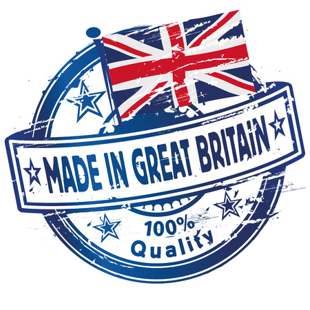 Rubber stamp made in Great Britain  Vector