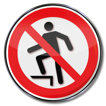 occupational risk: Prohibition sign for upgrades