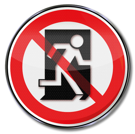 Prohibition sign this is not a way of escape  Vector