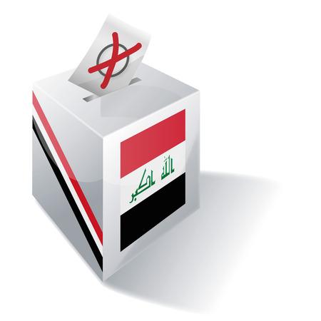 Ballot box Iraq Illustration