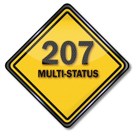 temporarily: Computer sign plate 207 Multi-Status